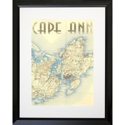 PENL Maps Cape Ann Framed Graphic Art