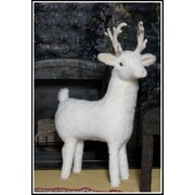 Queens of Christmas Reindeer Ottoman; White