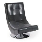 Armen Living Mario Swivel Chair; Gray