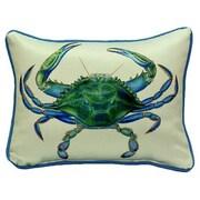 Betsy Drake Interiors Coastal Male Crab Indoor / Outdoor Pillow