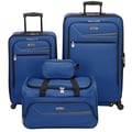 IZOD Metro 3.0 4 Piece Luggage Set; Maritime Blue