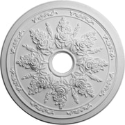 Ekena Millwork Rose and Ribbon 23.63''H x 23.63''W x 1.5''D Ceiling Medallion