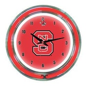 Wave 7 NCAA 14'' Team Neon Wall Clock; North Carolina State