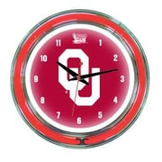 Wave 7 NCAA 14'' Team Neon Wall Clock; Oklahoma
