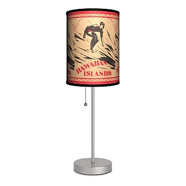 Lamp-In-A-Box Sports Surfing Hawaiian Islands 20'' Table Lamp