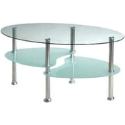 Hodedah Coffee Table; Clear