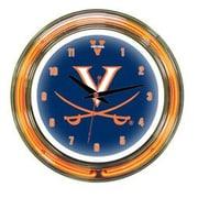 Wave 7 NCAA 14'' Team Neon Wall Clock; Virginia