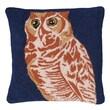 123 Creations Owl 100pct Wool Hook Pillow