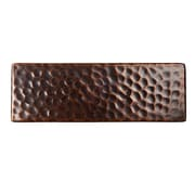 The Copper Factory Solid Hammered Copper 6'' x 2'' Decorative Accent Tile in Antique Copper