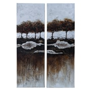 Woodland Imports 2 Piece Print of Painting on Canvas Set