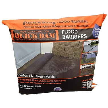 Quick Dam Flood Barriers 6in. x 17' (204in.) 1/Pack