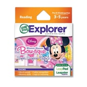 LeapFrog® Explorer™ Disney Minnie's Bow-tique: Super Surprise Party Learning Game, Ages 3-5 Years