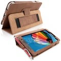 Snugg Leather Flip Stand Cover Case With Elastic Strap For Samsung Galaxy Tab 3 7, Distressed Brown