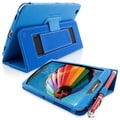 Snugg Leather Flip Stand Cover Case With Elastic Strap For Samsung Galaxy Tab 3 7, Electric Blue