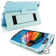 Snugg Leather Flip Stand Cover Case With Elastic Strap For Samsung Galaxy Tab 3 8, Baby Blue