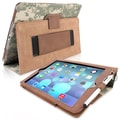 Snugg Leather Flip Stand Cover Case With Elastic Strap For Apple iPad Air/iPad 5, Camouflage