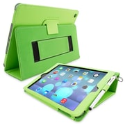 Snugg Leather Flip Stand Cover Case With Elastic Strap For Apple iPad Air/iPad 5, Green
