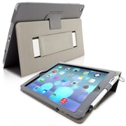 Snugg Leather Flip Stand Cover Case With Elastic Strap For Apple iPad Air/iPad 5, Gray