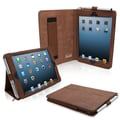 Snugg Leather Flip Stand Cover Case With Elastic Strap For iPad Mini/Mini 2 Retina, Distressed Brown
