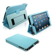 Snugg Leather Flip Stand Cover Case With Elastic Strap For iPad Mini/Mini 2 Retina, Baby Blue