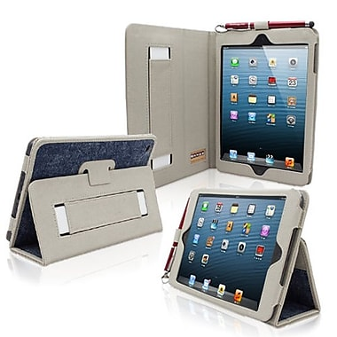 Snugg Leather Flip Stand Cover Case With Elastic Strap For iPad Mini/Mini 2 Retina, Blue Denim