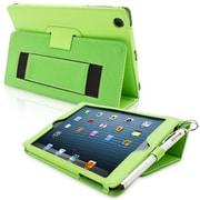 Snugg Leather Flip Stand Cover Case With Elastic Strap For iPad Mini/Mini 2 Retina, Green