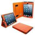 Snugg Leather Flip Stand Cover Case With Elastic Strap For iPad Mini/Mini 2 Retina, Orange