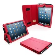 Snugg Leather Flip Stand Cover Case With Elastic Strap For iPad Mini/Mini 2 Retina, Red