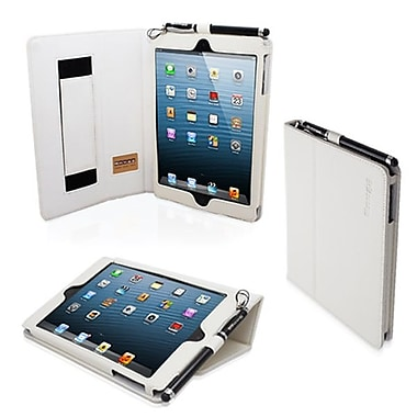 Snugg Leather Flip Stand Cover Case With Elastic Strap For iPad Mini/Mini 2 Retina, White