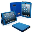 Snugg Leather Flip Stand Cover Case With Elastic Strap For iPad Mini/Mini 2 Retina, Electric Blue