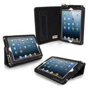 Snugg Leather Flip Stand Cover Case With Elastic Strap For iPad Mini/Mini 2 Retina, Black