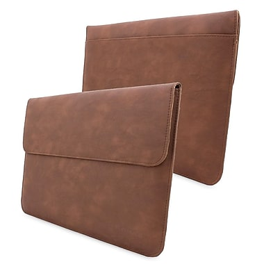 Snugg Leather Wallet Case For Apple MacBook Air 13in./MacBook Pro 13in. Retina, Distressed Brown