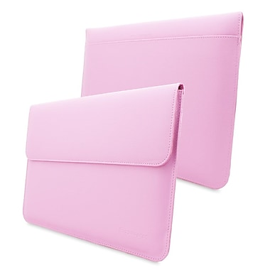 Snugg Leather Wallet Case For Apple MacBook Pro 15in. Retina, Candy Pink