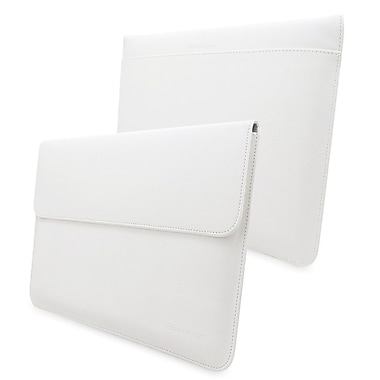 Snugg Leather Wallet Case For Apple MacBook Air 13in./MacBook Pro 13in. Retina, White