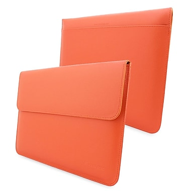 Snugg Leather Wallet Case For Apple MacBook Air 13in./MacBook Pro 13in. Retina, Orange