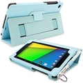 Snugg Leather Flip Stand Cover Cases With Elastic Strap For Google Nexus 7 2 2013