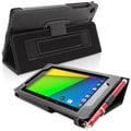 Snugg Leather Flip Stand Cover Case With Elastic Strap For Google Nexus 7 2 2013, Black