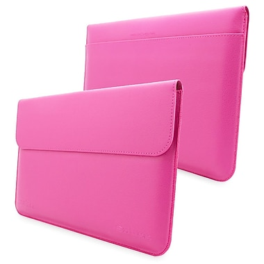 Snugg Leather Wallet Case For Microsoft Surface 1 RT and 2 Pro, Magenta