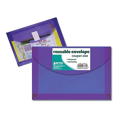 Better Office Products Reusable Envelope, Coupon Size