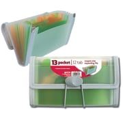 Better Office Products 13 Pocket Coupon Size Expanding File, Swen Edges