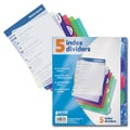 Better Office Products Dividers 5 Tab Poly Index