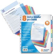 "Better Office Products Paper 8 Tab Poly Index Dividers 6"" x 9"""