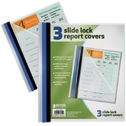 Better Office Products Non-Stick Poly Slide Lock Report Covers Letter Size