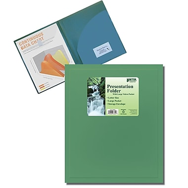 Better Office Products Pocket Poly Presentation Folder