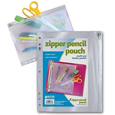 Better Office Products Zipper Multi Use Pouch 5.75in.