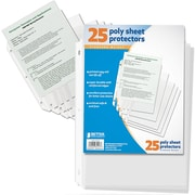 Better Office Products 25 Count Sheet Protectors