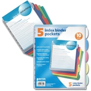 Better Office Products 5 Pk Poly Index Div.