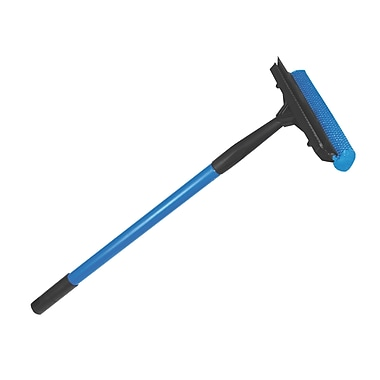 Ettore Polypropylene, Metal Auto Squeegee Scrubber With Handle 10