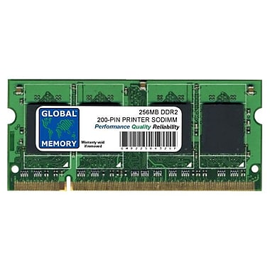 XeroxMD – Module de mémoire de 256 Mo DDR2 SDRAM (SO-DIMM à 200 broches) 533 MHz (PC2-4200) pour Phaser 6180MFP/7500