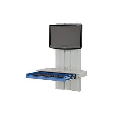 Rubbermaid® Premium Slim Line Wall Arm Workstation With External CPU Holder
